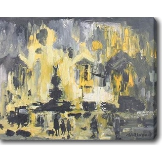 Yellow and Grey' Oil on Canvas Art