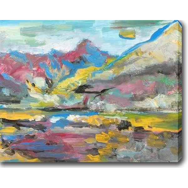 The Colorful River' Oil on Canvas Art - Multi