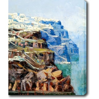The White and Blue Coast' Oil on Canvas Art