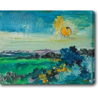 Blue Lagoon' Oil on Canvas Art