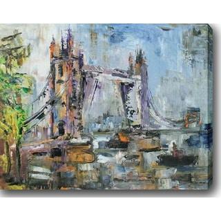 The Bridge' Oil on Canvas Art