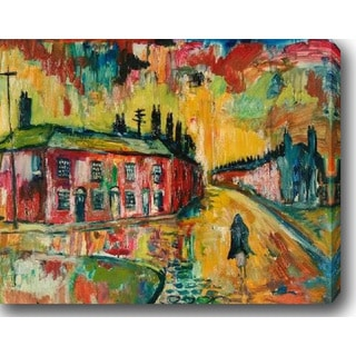 The Town' Oil on Canvas Art