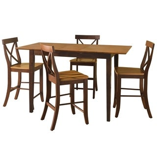 Counter Height Cinnamon/ Espresso 5-piece Dining Set