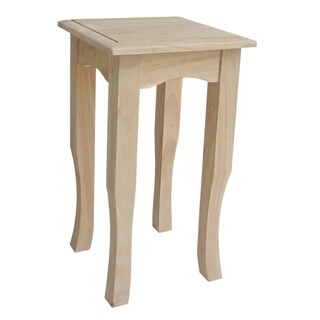Unfinished 21-inch Solid Parawood Tea Table