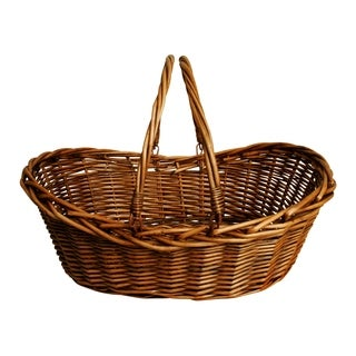Wald Imports 19.5-inch Dark Willow Baskets (Set of 3)