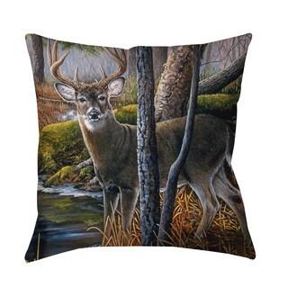Thumbprintz Beaver Pond Buck Indoor/ Outdoor Throw Pillow