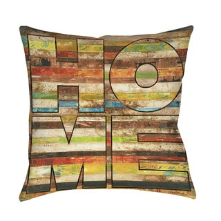 Striped Home Indoor/ Outdoor Throw Pillow