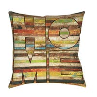 Striped Home Indoor/ Outdoor Throw Pillow