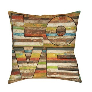 Thumbprintz Striped Love Indoor/ Outdoor Throw Pillow