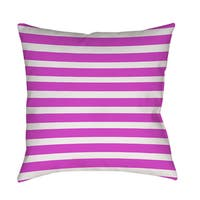 Bright Stripes Pink Indoor/ Outdoor Throw Pillow