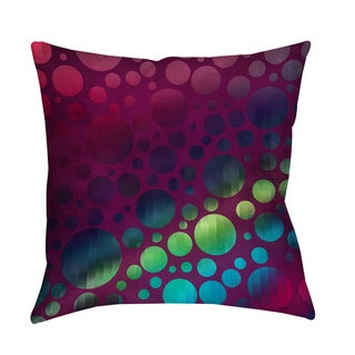 Thumbprintz Circles I Magenta Indoor/ Outdoor Throw Pillow