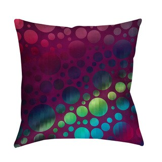 Circles I Magenta Indoor/ Outdoor Throw Pillow