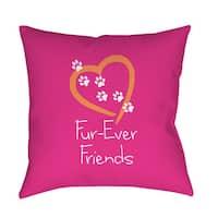 Forever Friends Pink Indoor/ Outdoor Throw Pillow