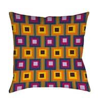 Hypnotic Square Indoor/ Outdoor Throw Pillow