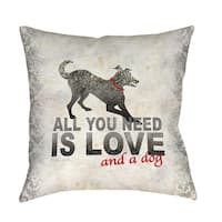All You Need Indoor/ Outdoor Throw Pillow