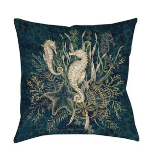 Thumbprintz Sea Horse Vignette Indoor/ Outdoor Throw Pillow