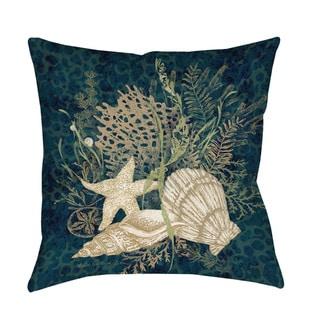 Sea Shells Vignette Indoor/ Outdoor Throw Pillow
