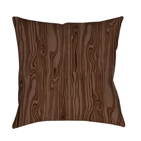 Shop Wood Grain Large Scale Brown Indoor Outdoor Throw Pillow