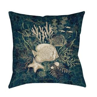 Thumbprintz Fish Vignette Indoor/ Outdoor Throw Pillow