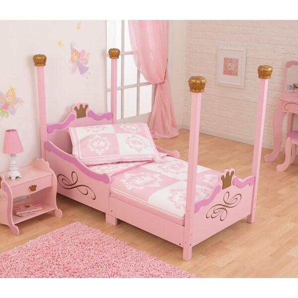 Classic Pink/ White Princess 4-piece Toddler Bedding
