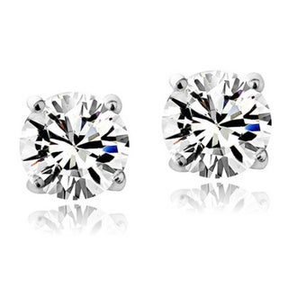 Link to Crystal Ice Sterling Silver Swarovski Elements Birthstone 6mm Stud Earrings Similar Items in Birthstone Jewelry