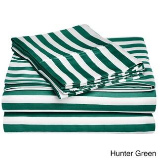 Superior Cabana Striped Cotton Blend 600 Thread Count Sheet Set