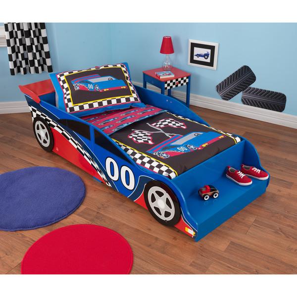 Shop Race Car 4-piece Standard Toddler Bedding - Free ...