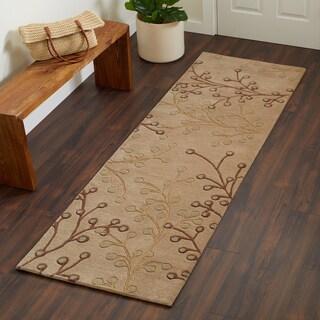 Hand-tufted Sakura Branch Floral Runner Wool Area Rug (2'6 x 8')
