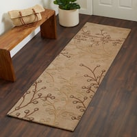 Hand-tufted Sakura Branch Floral Runner Wool Area Rug (2'6 x 8') - 2'6 x 8'