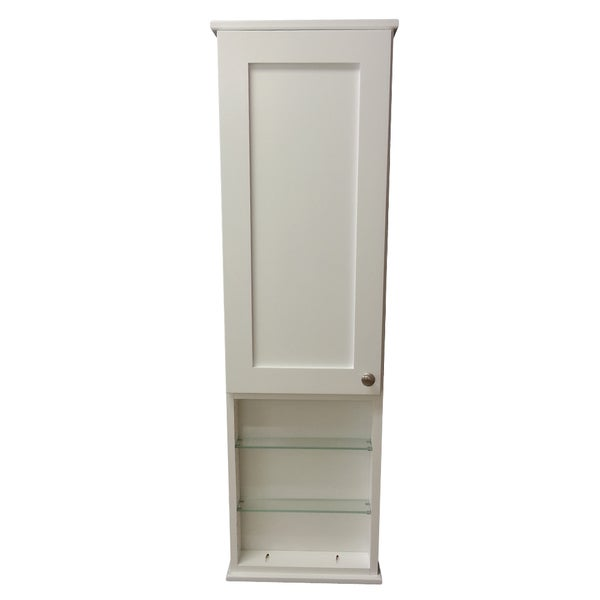 on the wall cabinet with 18 inch open shelf 3 5 inch deep inside