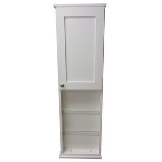 48-inch Alexander Series On the Wall Cabinet with 24-inch Open Shelf 7.25-inch Deep Inside