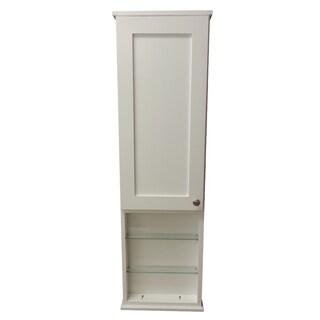 36-inch Alexander Series On the Wall Cabinet with 12-inch Open Shelf 5.5-inch Deep Inside