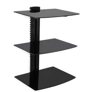 Mount-it Wall-mounted 3-shelf AV Component Shelving System
