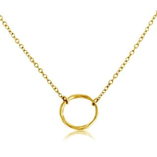Belcho 14k Yellow Gold Overlay Circle of Life Karma Ring Pendant Necklace