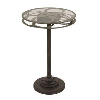 Holllywood Vintage Film Reel 28-inch Round-top Table