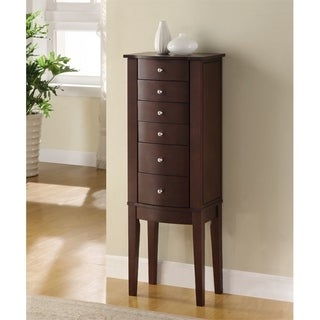 Powell Geneva Merlot Jewelry Armoire