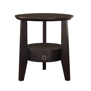 Cappuccino Accent Table with Drawer