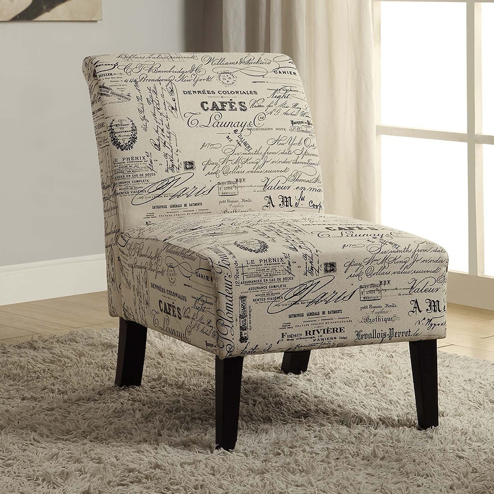 Porch & Den Prospect Hill Bonner Written Text Print Accent Chair