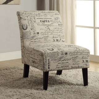 Living Room Chairs   Shop The Best Brands up to 10  Off   Linon Bradford Accent Chair with Written Text Print. Accent Chair For Living Room. Home Design Ideas