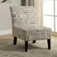 Porch & Den Bonner Written Text Print Accent Chair