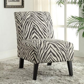 Linon Bradford Accent Chair with Zebra Print