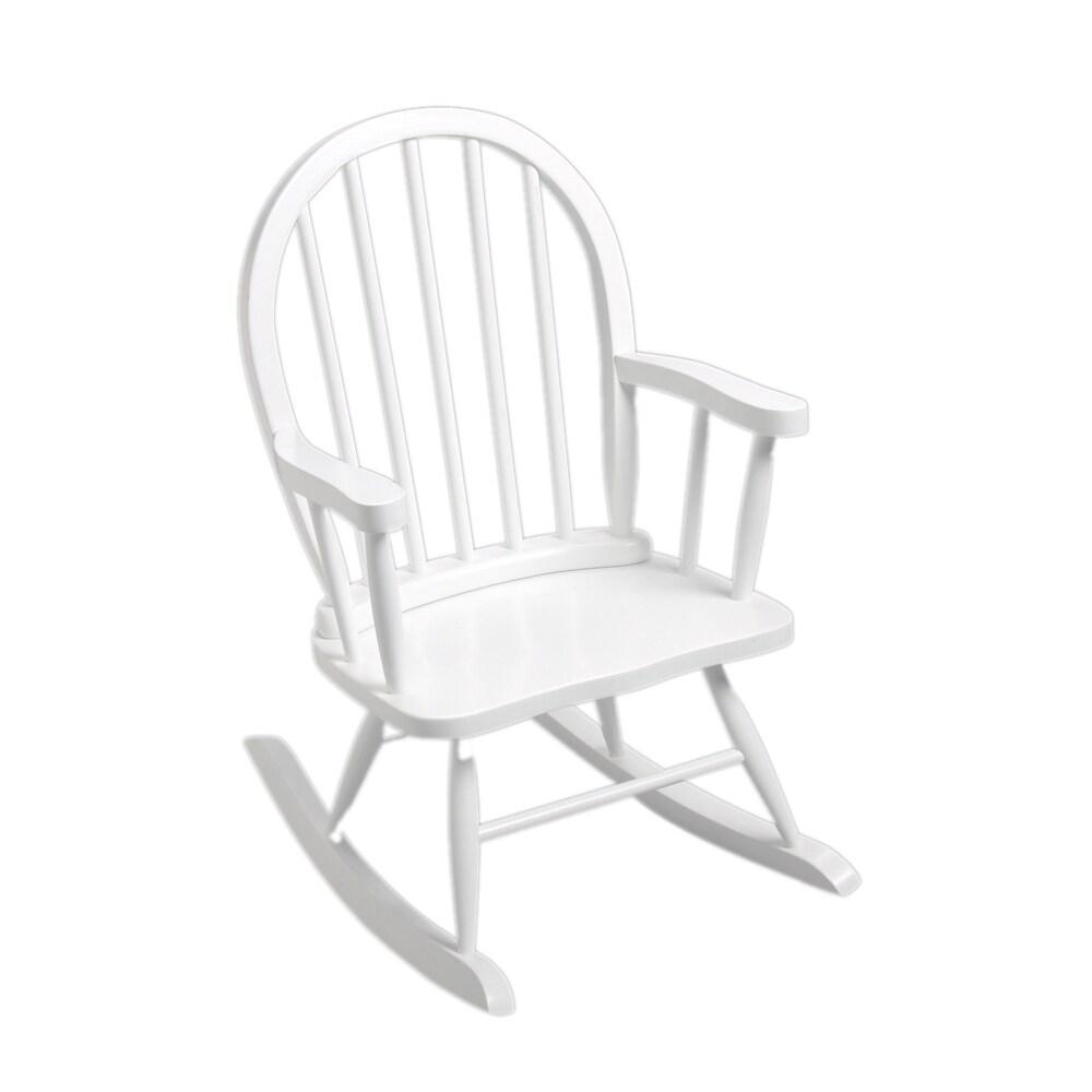 GiftMark Windsor Home Children's White Rocking Chair (Whi...