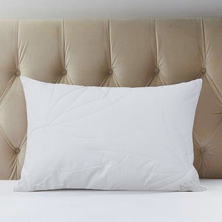 Hypoallergenic Quilted Leaf-patterned Microfiber Jumbo-size Pillows (Set of 2)