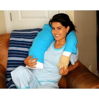 boyfriend body pillow companion with mooshi micro beads and soft tshirt