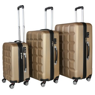 RivoLite Venice Gold 3-piece Lightweight Hardside Spinner Luggage Set