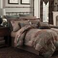 Croscill Galleria Brown Opulent Chenille Jacquard Woven 4-piece Comforter Set