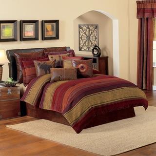 Croscill Plateau Chenille Jacquard Woven Stripe 4-piece Comforter Set
