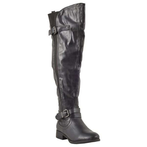 Nature Breeze Women's 'Shelbi-01H' Over-the-knee Open Slit Riding Boots
