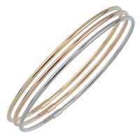 Fremada 10k Gold 2mm High Polish Slip-on Bangle