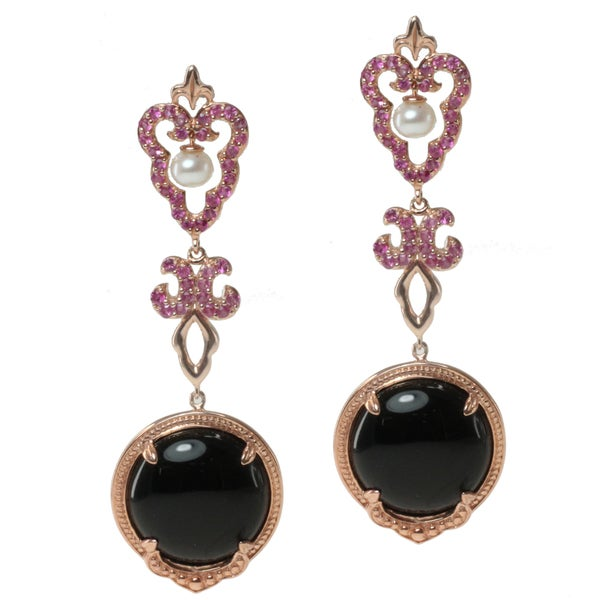 Shop Dallas Prince Rose Gold Over Silver Black Onyx, Pink